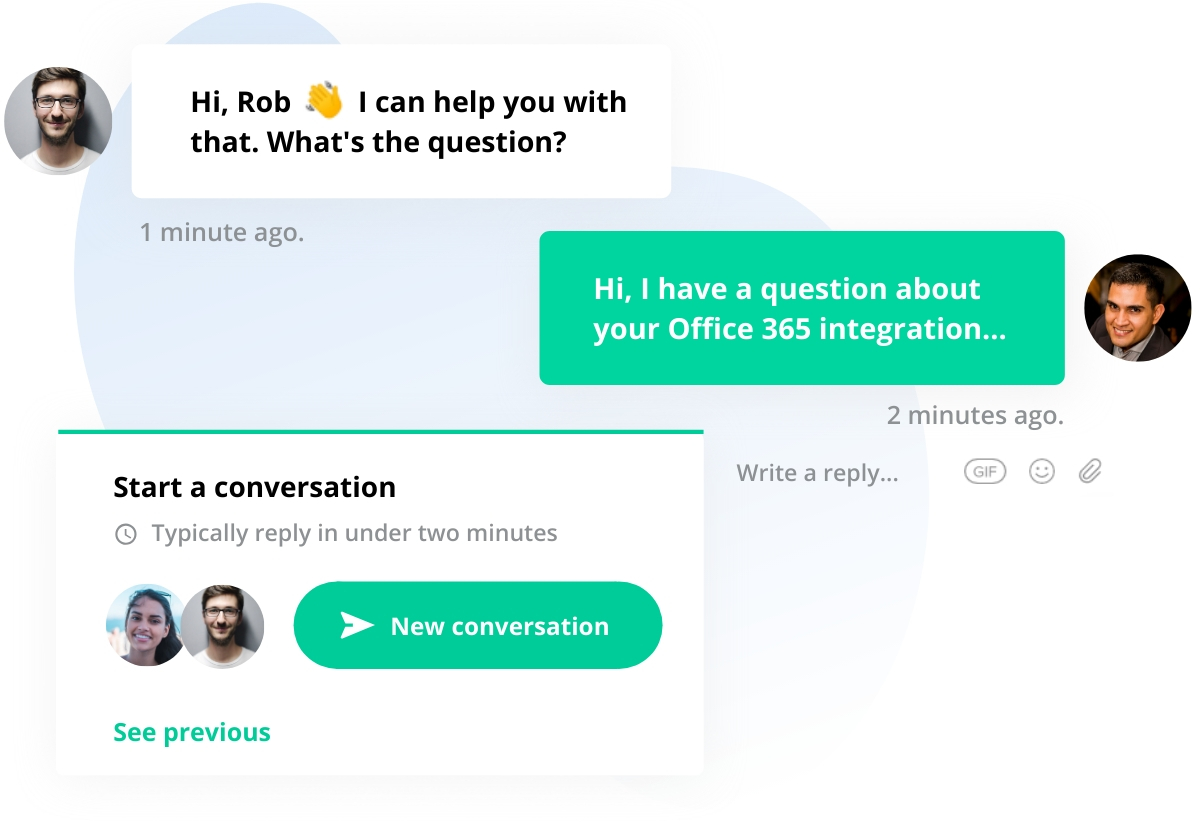 Instant live chat support