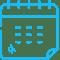 Light blue calendar icon.