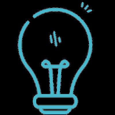 Light bulb, tuquoise