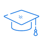Educate icon in blue.
