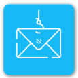 Light blue envelope icon