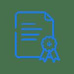 Certificate- dark blue