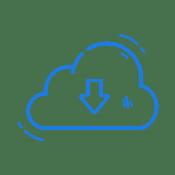Download cloud- dark blue