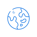 Globe- dark blue