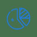 Pie chart  icon- dark blue