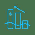 Progress icon in light blue.