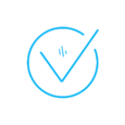 Blue tick icon in light blue.
