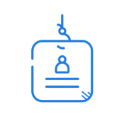Phishing-as-a-Service icon in blue.