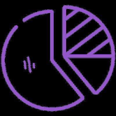 Purple pie chart