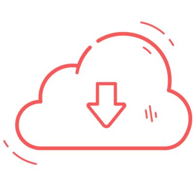 Red download cloud