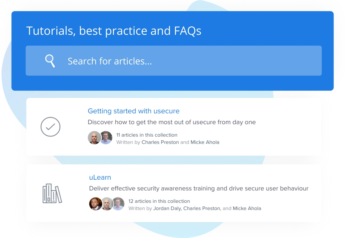 Self-service knowledge base and FAQs