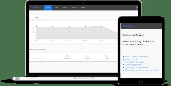 Smart mockup of platform for gdpr page