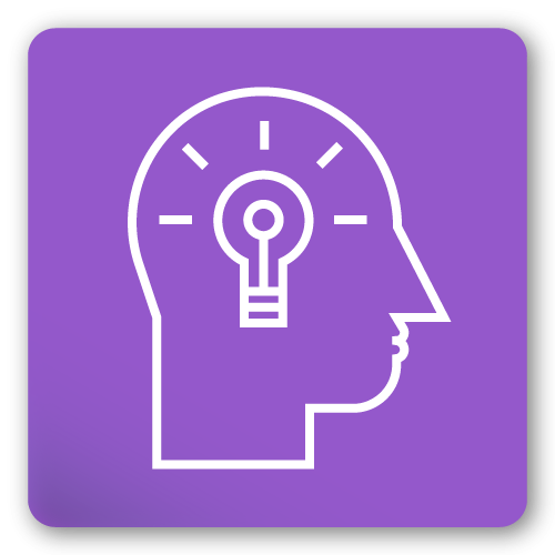 head and light bulb icon
