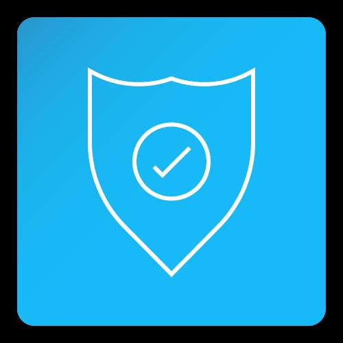 safe tick shield icon