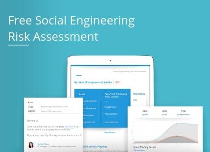 social engineering risk assessment poster