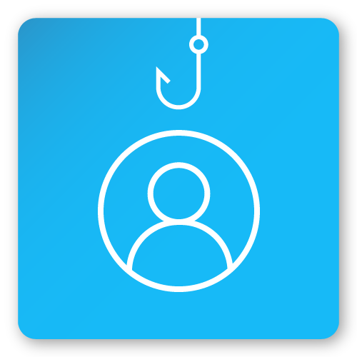 Spear phishing icon.