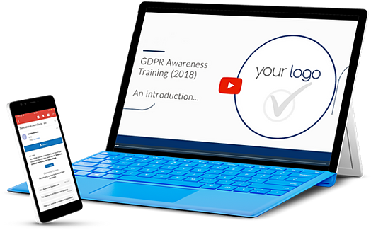 laptop and mobile with usecure GDPR awareness module