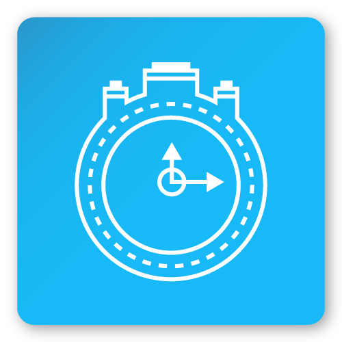 icon with stop watch