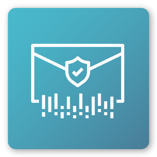 email icon with security shield