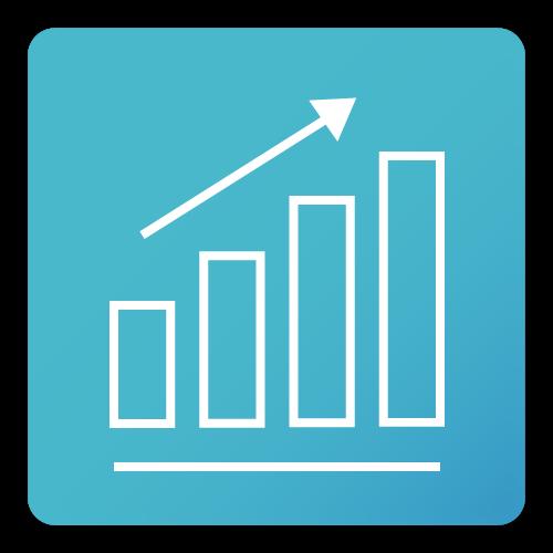 progress analysis icon
